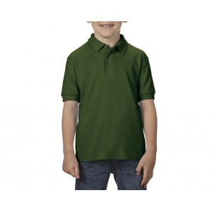 Gildan DryBlend Youth Double Pique polo, Forest Green, XS (GIB72800FO)