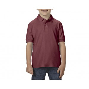 Gildan DryBlend Youth Double Pique polo, Maroon, XS (GIB72800MA)