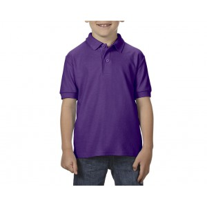 Gildan DryBlend Youth Double Pique polo, Purple, XS (GIB72800PU)