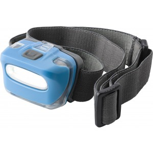 Head light with powerful 8 COB LED lights, light blue (7279-18)
