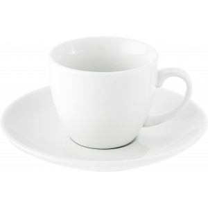 Porcelain cup and saucer (80ml), white (3177-02CD)