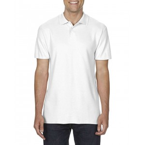SOFTSTYLE<sup>®</sup> ADULT DOUBLE PIQUÉ POLO, White (GI64800WH)