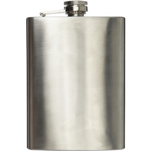Stainless steel hip flask (240ml), silver (7679-32CD)